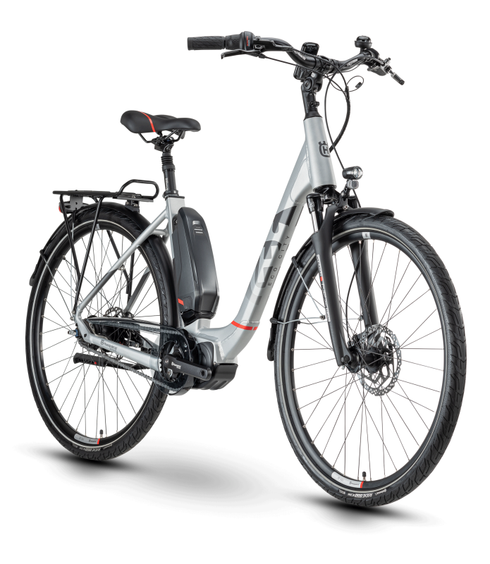 Husqvarna Bicycles Eco City 2 CB Silver / Red 44